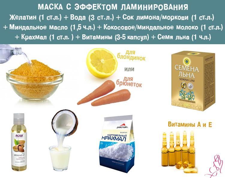 Рецепт маски для волос с желатином в домашних условиях